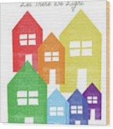 Rainbow Holiday- Art By Linda Woods Wood Print