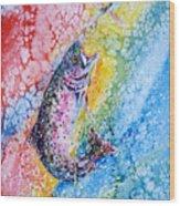 Rainbow Hunter Wood Print