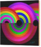 Rainbow In 3d Wood Print