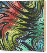 Rainbow In Abstract 05 Wood Print