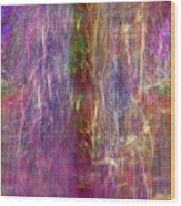 Rainbow In The Dark Wood Print