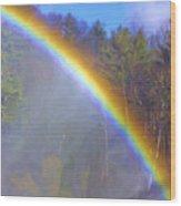 Rainbow In The Mist Wood Print