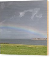Rainbow, Island Of Iona, Scotland Wood Print