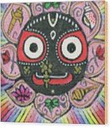 Rainbow Jagannath Wood Print