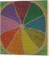 Rainbow Lemon Wood Print