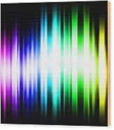 Rainbow Light Rays Wood Print by Michael Tompsett