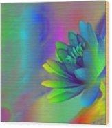 Rainbow Lily Wood Print