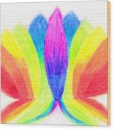 Rainbow Lotus Wood Print