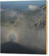 Rainbow-man Wood Print