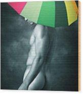 Rainbow Mike  Wood Print