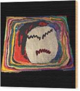 Rainbow Moon Wood Print