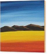 Rainbow Mountains Wood Print