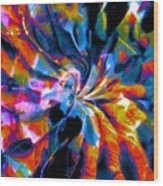 Rainbow Nebula Wood Print