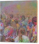 Rainbow Of Colors Wood Print