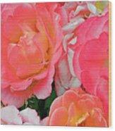 Rainbow Of Roses Wood Print