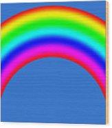 Rainbow On Sky Wood Print