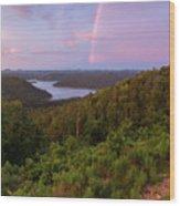 Rainbow Over Broken Bow Lake Wood Print