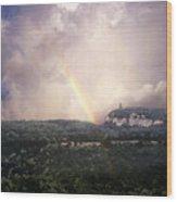 Rainbow Over Gunks Wood Print