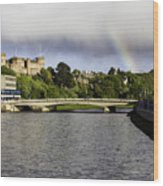Rainbow Over Inverness Wood Print