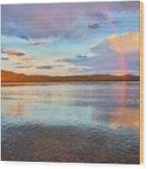Rainbow Over Magalloway  Wood Print