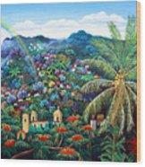 Rainbow Over Matagalpa Wood Print