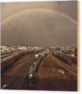 Rainbow Over Moose Jaw Saskatchewan Wood Print