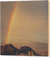 Rainbow Over Nevada Wood Print