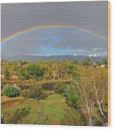 Rainbow Over The Araknsas Wood Print