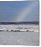 Rainbow Over The Arctic Wood Print
