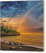 Rainbow Point Wood Print