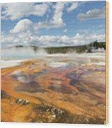 Rainbow Pool In Yellowstone National Park Wood Print