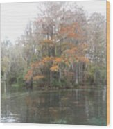 Rainbow River Colors Wood Print