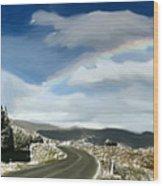 Rainbow Road - Id 16217-152042-9570 Wood Print