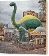 Rainbow Rock Shop Dino Wood Print