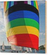 Rainbow Sail Wood Print