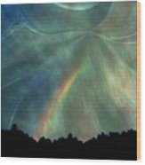 Rainbow Showers Wood Print