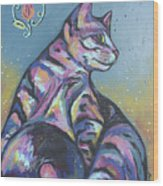 Rainbow Tabby Wood Print