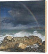 Rainbow To Heaven Shamrock Shores  Wood Print