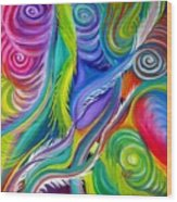 Rainbow Tornadoes Wood Print