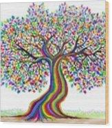 Rainbow Tree Friends  Wood Print