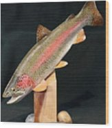 Rainbow Trout On Maple 15 Wood Print by Eric Knowlton
