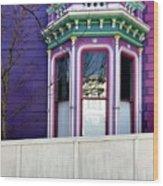 Rainbow Window Wood Print by Julie Gebhardt