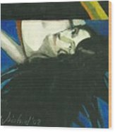 Rainbow  Woman Black Hair Wood Print