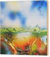 Rainbowland  Wood Print