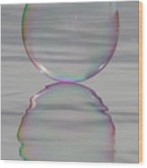 Rainbows Edge Bubble Wood Print
