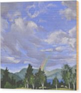 Rainbow's End Wood Print