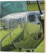 Raindrops On A Cessna - 2018 Christopher Buff, Www.aviationbuff. Wood Print