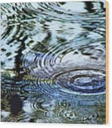 Raindrops On Water Wood Print