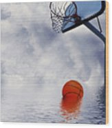 Rained Out Game Wood Print