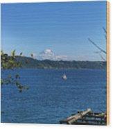 Rainier From Gig Harbor Park Wood Print